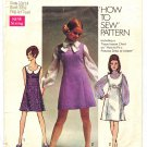 Simplicity 8614 Vintage 60s Mod Princess Dress Sewing Pattern Size 13/14 Bust 33 1/2