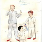 Butterick 6429 Vintage 1960 Boys Pajamas Sewing Pattern Size 10