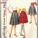 Simplicity 5115 UNCUT Vintage 60s Schoolgirl Skirt Sewing Pattern Size waist 24 hip 32