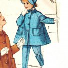 Simplicity 3654 60s Darling Girl's COAT, PANTS & HAT Vintage Sewing Pattern