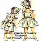 Vintage 50s Toddler Girls Pinafore Sundress Dress & Hat Repro Sewing Pattern Size 1 or 3