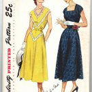 Simplicity 3237 Vintage 50s Half Size One Piece Dress 18 1/2