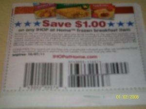 10 - $1/1 IHOP Frozen Breakfast item