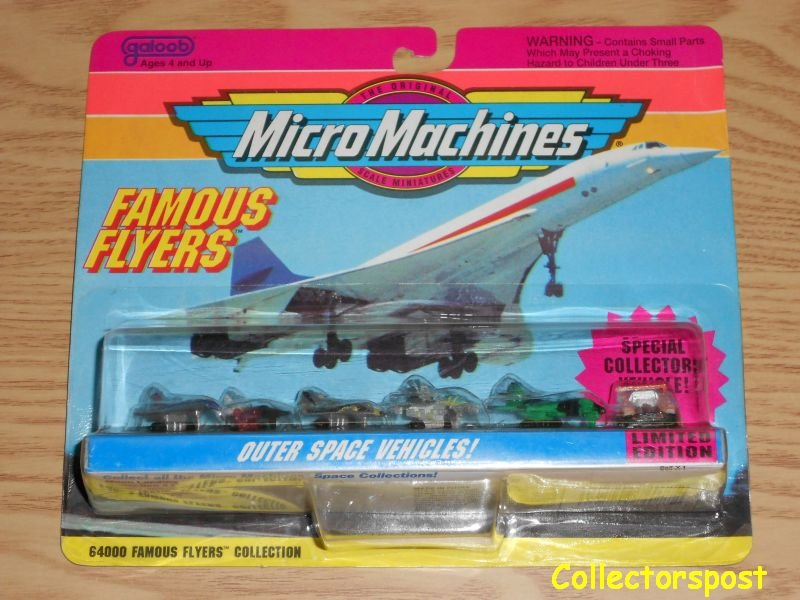 Micro Machines Famous Flyers Error card Collection #1