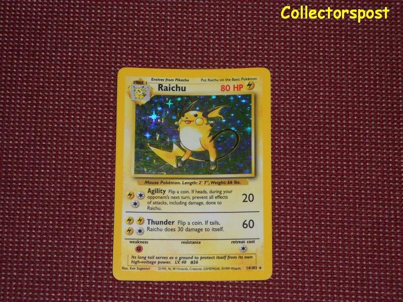 Pokemon Base Set Unlimited Raichu Holo