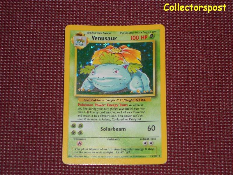 Pokemon Base Set Unlimited Venusaur Holo