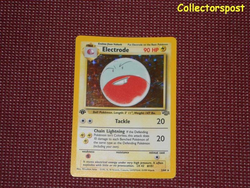 Pokemon Jungle Set 1st Edition electrode Holo