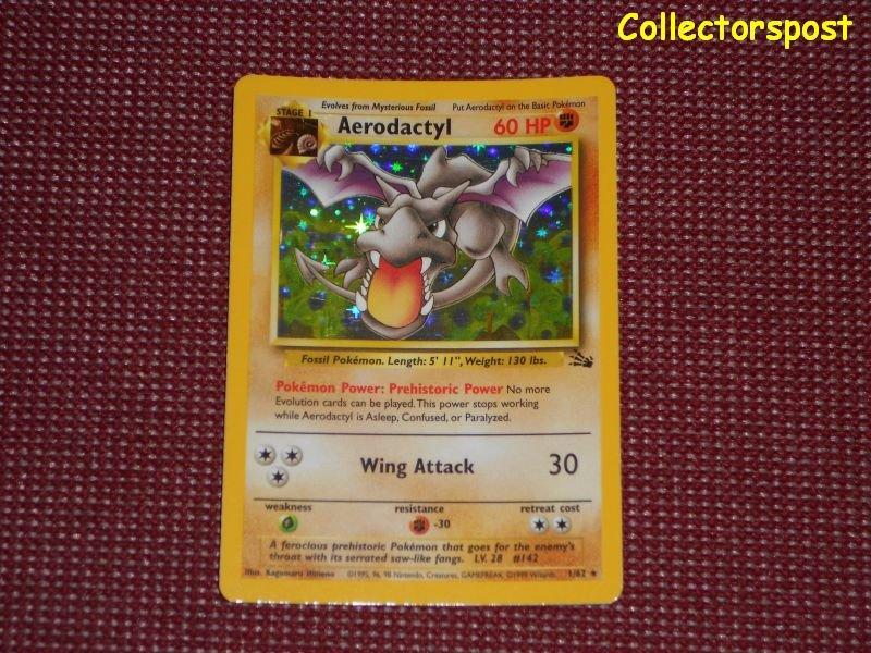 Pokemon Fossil Set Unlimited Aerodactyl Holo