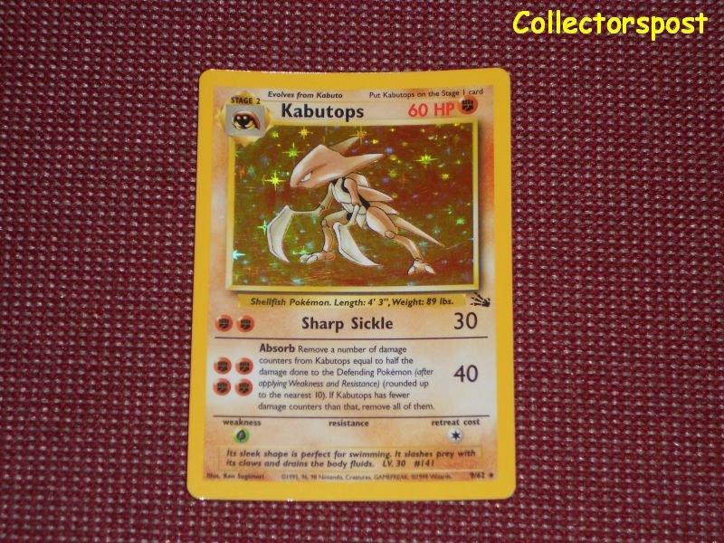 Pokemon Fossil Set Unlimited Kabutops Holo