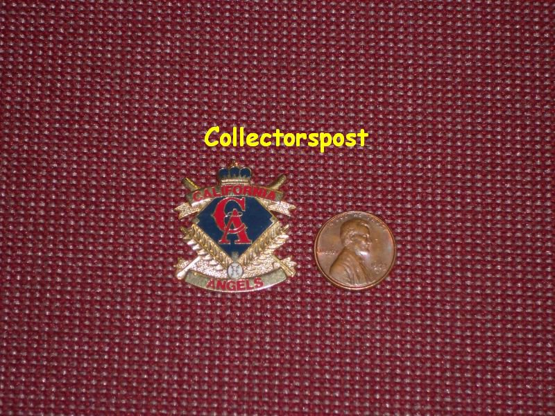 MLB California Angels old logo with diamond pin