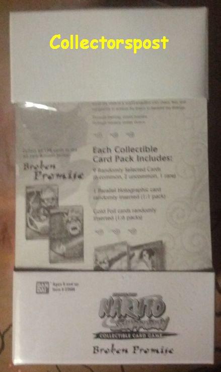 Naruto CCG Broken Promise 15 booster packs