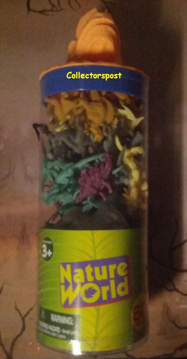 Nature World Dinosaurs tube 60 pieces Yellow dinosaur head