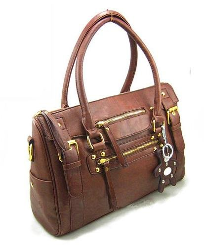 Faux Leather Handbag Tote Shoulder bag WCYT0001 Brown