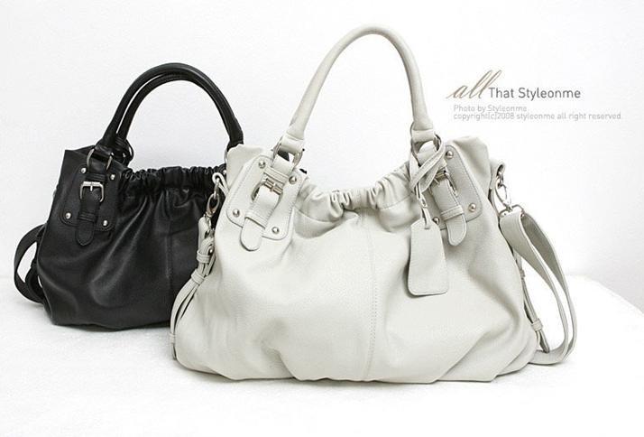 Ladies Handbag Tote Shoulder bag WCYT0039 White / Black