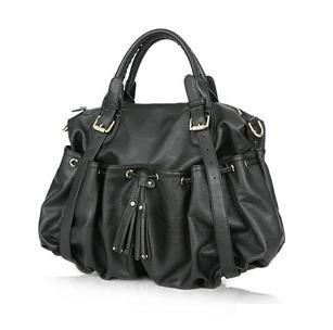 Ladies Handbag Tote Shoulder bag WCYD0199 Brown / Black