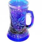 Fenton Glass Vintage fenton grape color Tall Cobalt blue patriotic decorative glass mug 1976