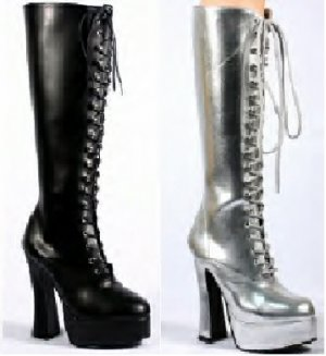 Lace Up Chunk Heel Knee High Boots, 6 colors avlb., Sizes 6 - 14, Retail $120