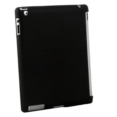 For iPad 2 Slim Case Work With Apple Smart Cover Black #6384#