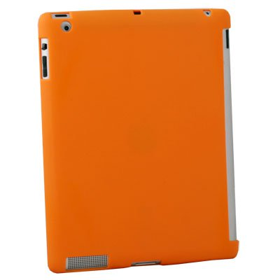 For iPad 2 TPU Case Work With Apple Smart Cover Orange