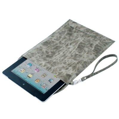 Gray Folder Sleeve PU Leather Case Bag for Apple IPad 2