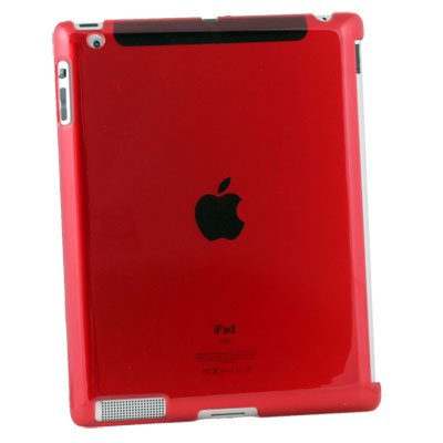 For iPad 2 Hard Case Work With Apple Smart Cover Red