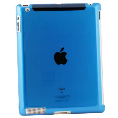 Blue Hard Case Work With Apple Smart Cover for iPad 2