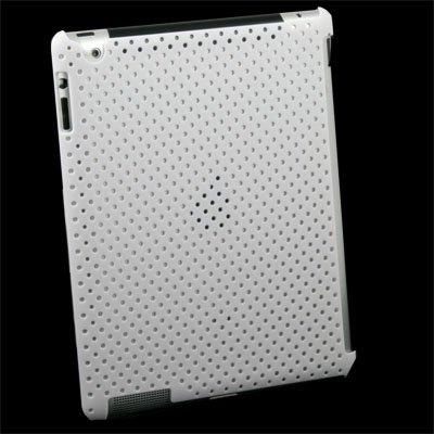 White Net Case Work With Smart Cover For iPad 2