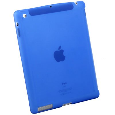 Blue Silicone Case Work With Smart Cover for Apple iPad 2