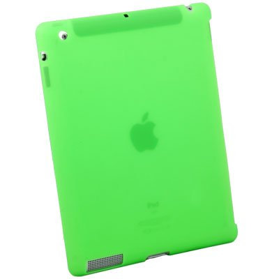 Silicone Case Work With Apple Smart Cover for iPad 2 Green #6469#