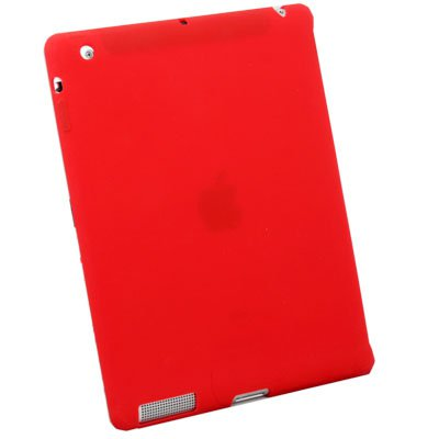 For iPad 2 silicone Case Work With Apple Smart Cover Red