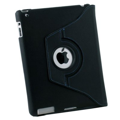 Generic Authentic leather case for iPad 2, Rotate/Stand