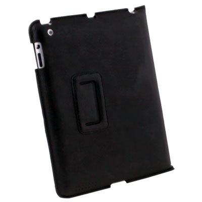 Black Leather Slim Case Cover For Apple iPad 2