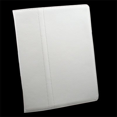 Stand Leather Case Cover Pouch Stand For Apple iPad2 White