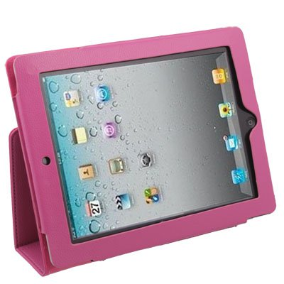 Apple iPad 2 Leather Case With Stand - Peach Cover
