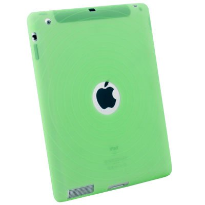 Green Silicone Skin Case Cover for Apple iPad 2