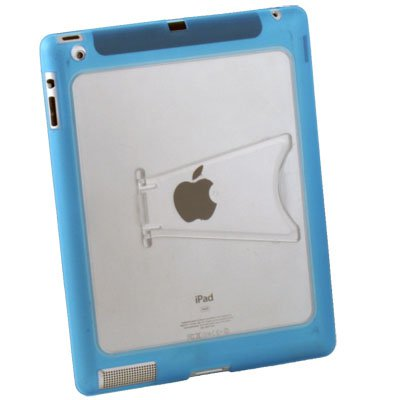 Clear TPU GEL Case with Stand for Apple IPAD2 Gen Azure