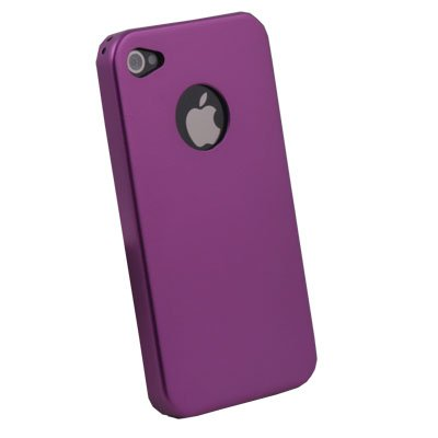 Purple Aluminum Metal Cover Case For Apple iPhone 4 4G