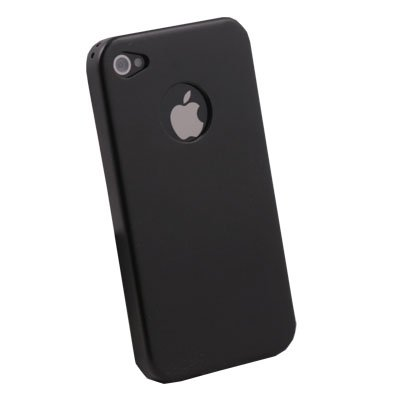 For iPhone 4 4G Black Aluminum Metal Cover Case