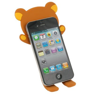 For iPhone 3GS 4G 4S Rilakkuma Lazy Bear Stand  Brown