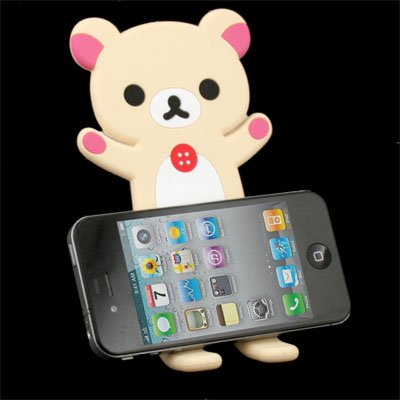 Rilakkuma Lazy Bear Stand for iPhone 3GS 4G 4S White