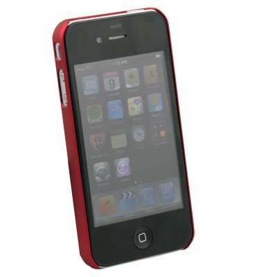 Hard Thin Slim Case Cover for Apple iPhone 4 4G Red