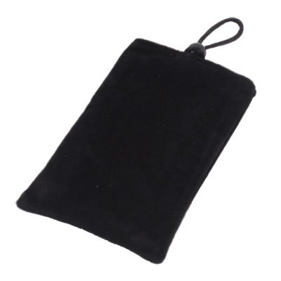 Suede Fabric Sleeve Pouch Bag for Apple iPhone4/4S 3G/3GS(Black)