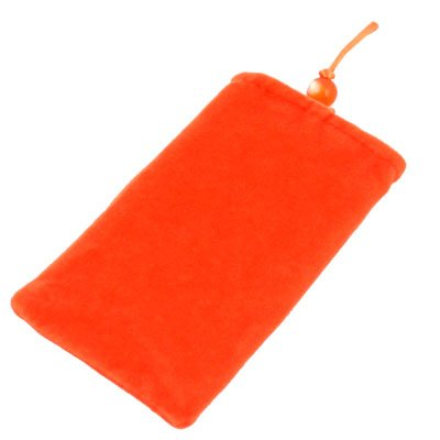 Suede Fabric Sleeve Pouch Bag For iPhone4/4S 3G/3GS (Orange)