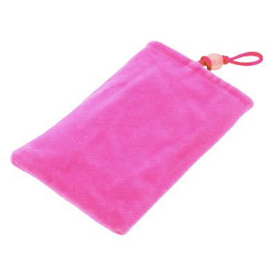 Suede Fabric Sleeve Pouch Bag For iPhone4/4S 3G/3GS Pink