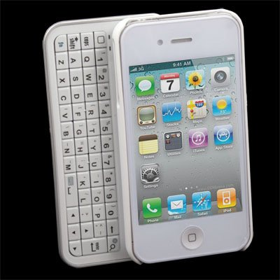 Wireless Bluetooth Slide-out Keyboard Case for iPhone 4
