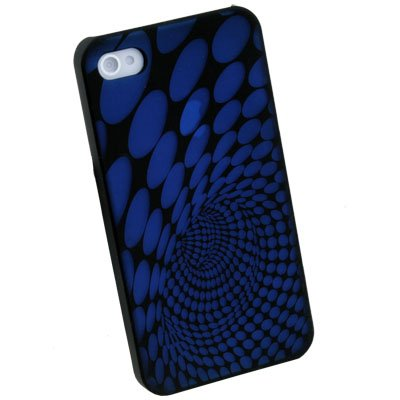 Blue Laser Dot Plastic Case back Cover for iPhone 4G