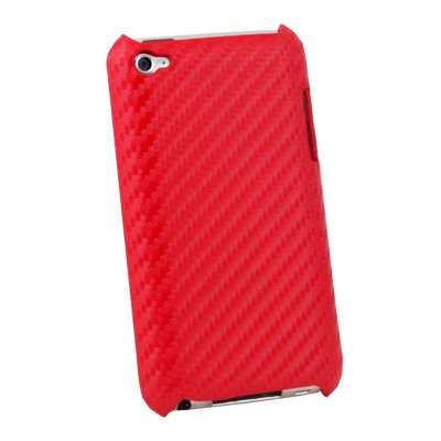 For Apple iPod Touch 4 Matts Pattern Hard Case Red