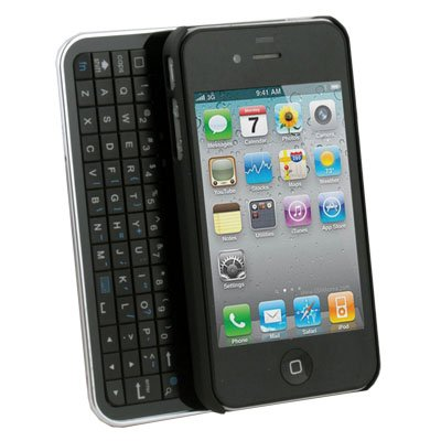 Wireless Bluetooth Slide-out Keyboard Case for iPhone 4 (Black)