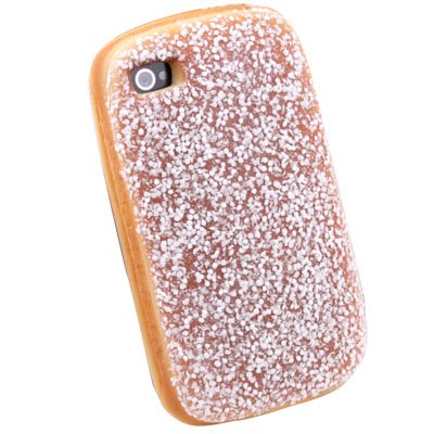 Coconut Bread Hamburger Style PU Soft Case Cover for iPhone 4 #7207#