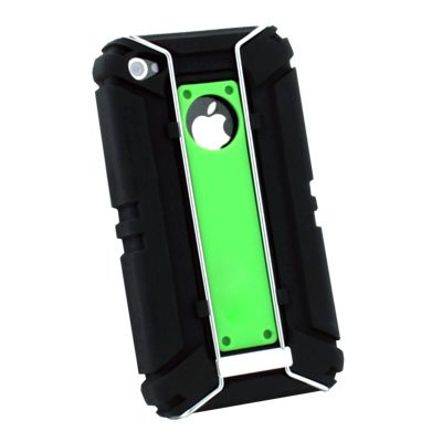 Sports Type Carry Protect Silicone Skin Armor Case for iPhone 4 4G(Green)